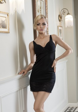 sexy woman on black dress indoor